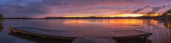 Mooie zonsondergang bij de Amstelveense Poel op 12 april 2016 van Ardi Mulder