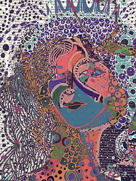 Abstract portret II vrouw van Rudy & Gisela Schlechter