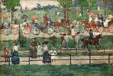 Maurice Prendergast, Central Park - 1900 von Atelier Liesjes