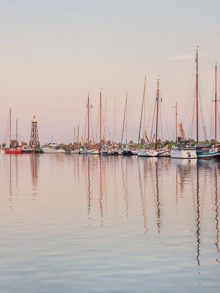 De oude haven van Enkhuizen in het avondlicht van Harrie Muis