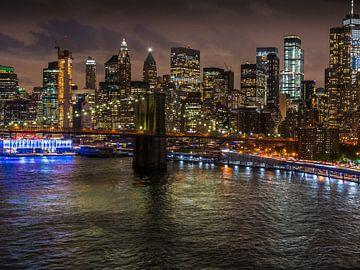 New Yorker Abendskyline von Ruurd Dankloff