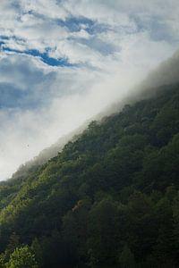 Mistige berg van
