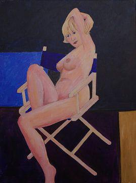 Sitzender Akt von Antonie van Gelder Beeldend kunstenaar