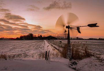 Polderlandschap in de winter