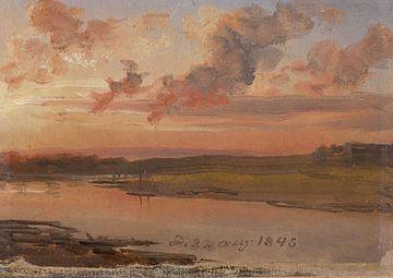 Die Elbe am Abend, Johan Christian Dahl