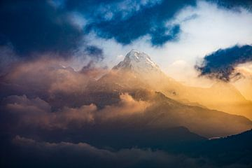 Poonhill Nepal Machapuchare von E. Luca