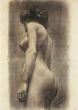 Studie van vrouwelijk naakt, 1910 van Atelier Liesjes
