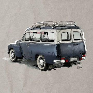 Volvo pv-445-duett sur Pieter Hogenbirk