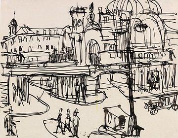 Dresden, Hauptbahnhof, ERNST LUDWIG KIRCHNER, Um 1911 von Atelier Liesjes