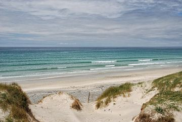 Atlantisch strand in de Bretagne van Joachim G. Pinkawa