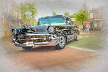 57 Black Chevy von Bill Posner
