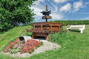 Repos dans les vignobles de la région de Champagne sur Peter Eckert
