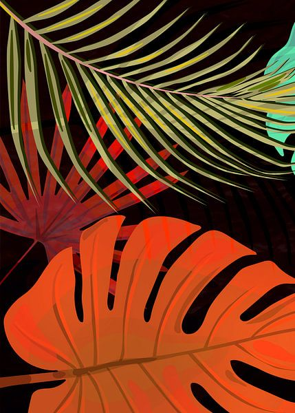 TROPICAL LEAVES & BLACK no2g van Pia Schneider