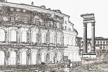 Marcellus Theater, Rome van Gunter Kirsch