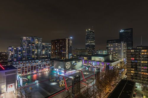 Het Schouwburgplein tijdens IFFR in Rotterdam