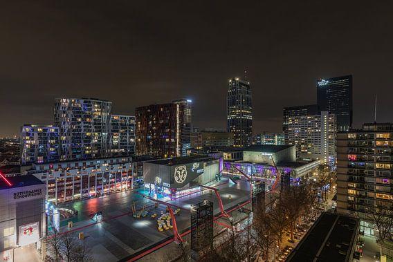 Het Schouwburgplein tijdens IFFR in Rotterdam van MS Fotografie