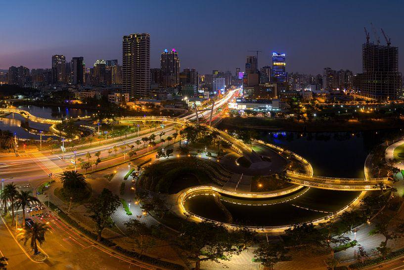 Heart of Love river, Kaohsiung City Taiwan van Jos Pannekoek
