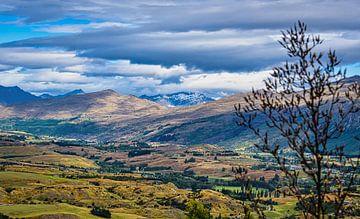 Uitzicht over het dal, Lake County, Nieuw Zeeland van Rietje Bulthuis
