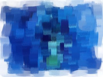 Abstract blauw van Maurice Dawson