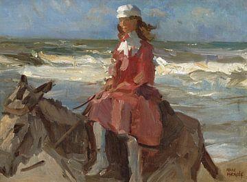 Dame auf einem Esel am Strand, Isaac Israëls von