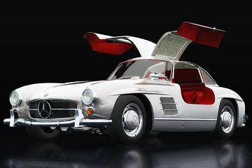 Mercedes 300 SL Gullwings drie-kwart overzicht