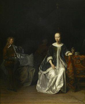 Eine Dame bei der Toilette, Gabriël Metsu
