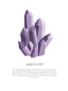 Amethyst-Kristallstein | Amethyst-Kristallstein von Puck Mols