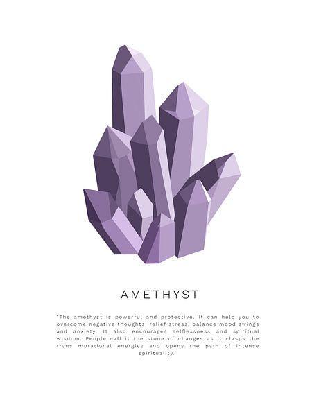 Amethyst-Kristallstein   Amethyst-Kristallstein von Puck Mols