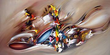 Abstrakte Vision von Gena Theheartofart