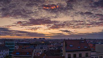 zonsondergang Brussel van tom Lammens