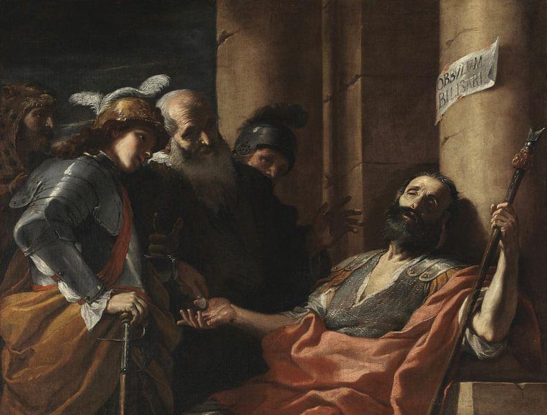 Belisarius erhält Almosen, Mattia Preti von Meesterlijcke Meesters