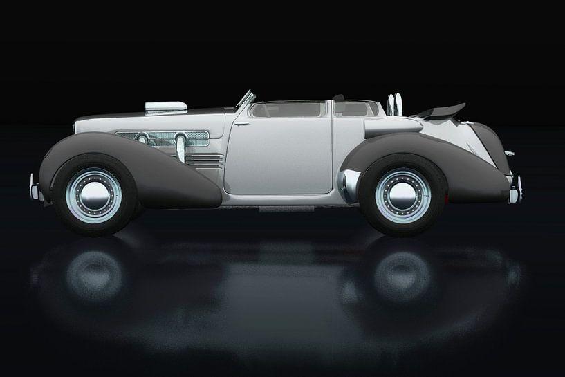 Cord 812 uit 1930 Zijaanzicht van Jan Keteleer