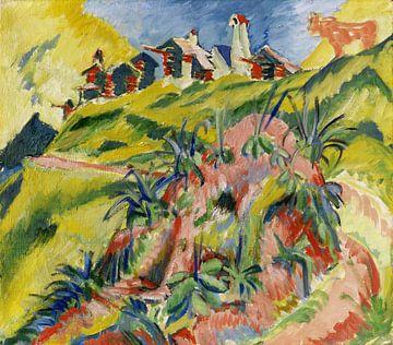 Bergdorf mit rosa Kuh, ERNST LUDWIG KIRCHNER, 1919-1920 von Atelier Liesjes