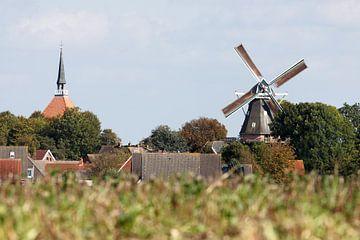 Kerk en molen van Rolf Pötsch