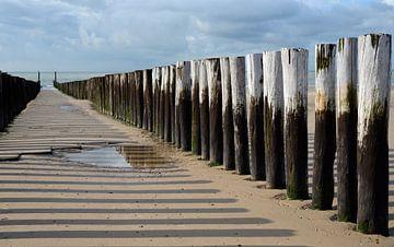 Golfbrekers tussen Zoutelande en Domburg #4 van Koolspix