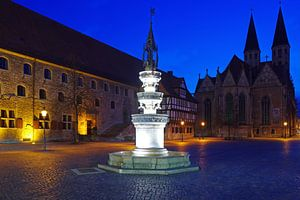 De oude stadsmarkt van Braunschweig van Reinhard  Pantke