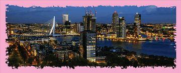 panorama Erasmus brug Rotterdam rose van Gerrit Neuteboom