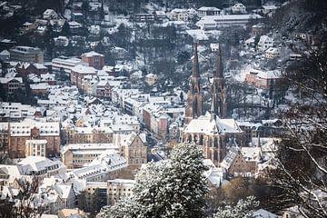 Blick auf die winterliche Elisabeth Kirche