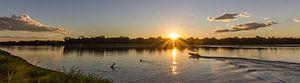 Zonsondergang in Zambia