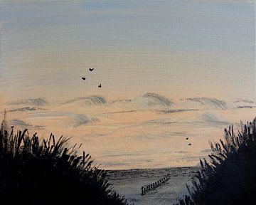 Strand Malerei von Aukelien Philips