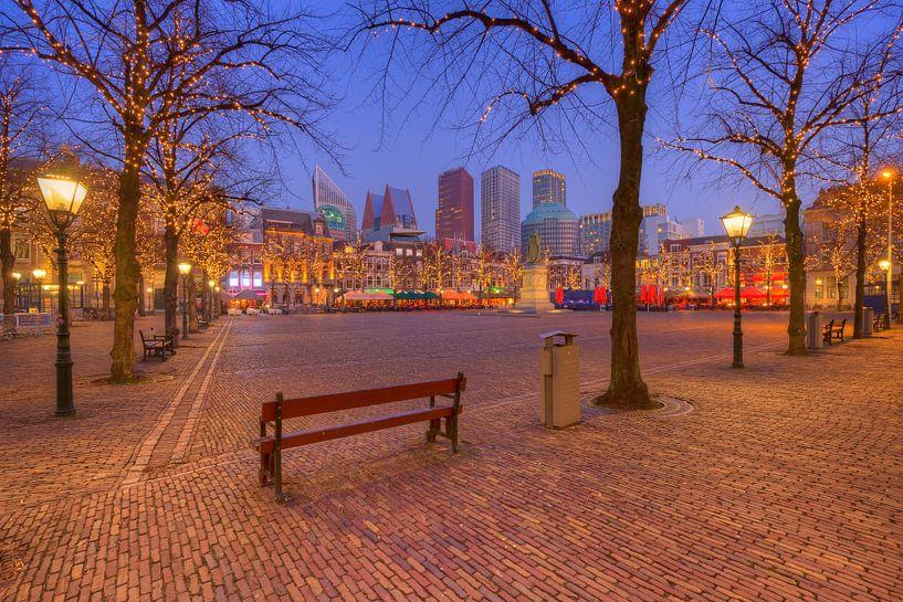Het Plein en de Skyline van Den Haag van Rob Kints