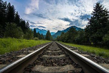 Bahnstrecken in Österreich mit Bergen von Wilco Bos