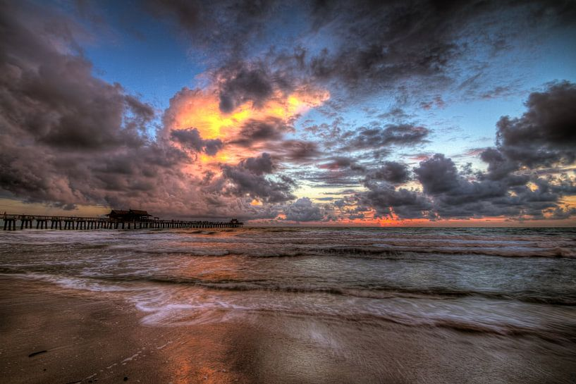 Sunset Naples Florida van Rene Ladenius