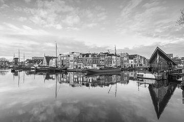 Galgewater Leiden in zwartwit