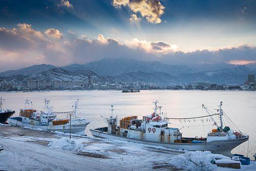 De haven van Sokcho Zuid-Korea van
