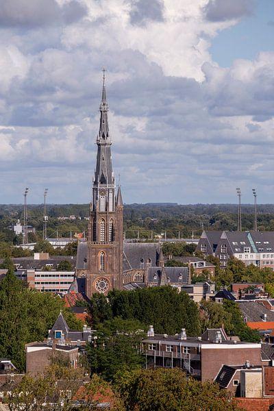 Église Saint-Boniface et stade Cambuur sur Sander de Jong