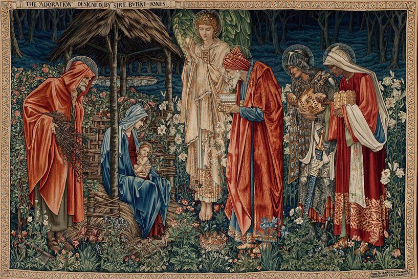 Edward Burne-Jones - De aanbidding van de koningen van 1000 Schilderijen