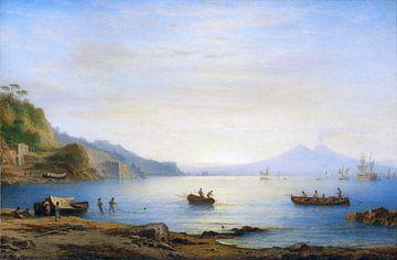 Bucht vor Neapel mit Blick auf den Vesuv, CARL MORGENSTERN, 1875 von Atelier Liesjes