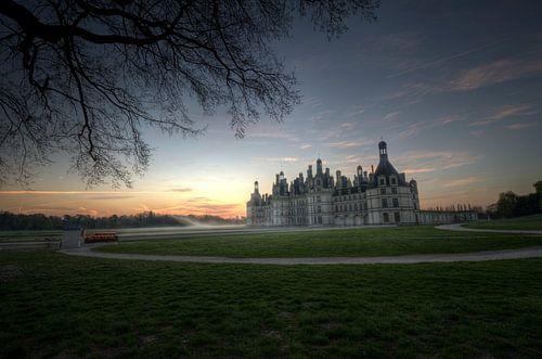Chambord Chateaux in het morgenlicht van