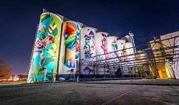 Graffiti Silo's tramkade von Emmory Schröder
